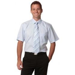 Mens Self Stripe Long Sleeve Shirt - M7100S