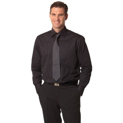 Mens Dobby Stripe Long Sleeve Shirt - M7132