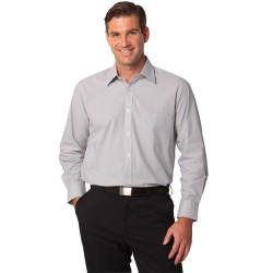 Mens Fine Stripe Long Sleeve Shirt - M7212
