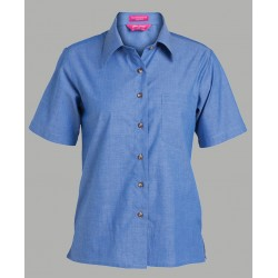 JB's LADIES S/S INDIGO SHIRT - 4LICS