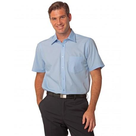 Mens Pin Stripe Short Sleeve Shirt - M7221