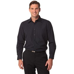 Mens Pin Stripe Long Sleeve Shirt - M7222