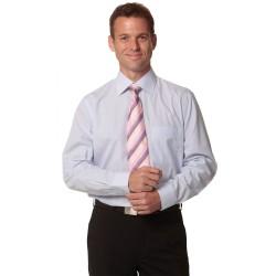 Mens Mini Check Long Sleeve Shirt - M7360L