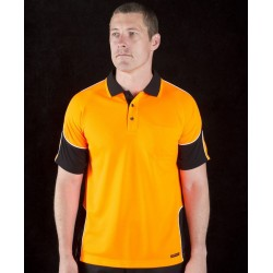Hi Vis S/S Arm Panel Polo - 6AP4S