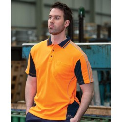 HI VIS 4602.1 S/S ARM TAPE POLO - 6AT4S