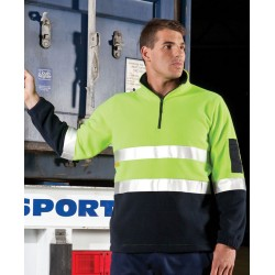 Hi Vis (D+N) 1/2 Zip Polar Fleece - 6DNPF