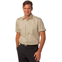 Mens Short Sleeve Military Shirt - M7911