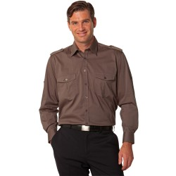 Mens Long Sleeve Military Shirt - M7912
