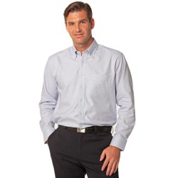 Mens Dot Contrast Long Sleeve Shirt - M7922