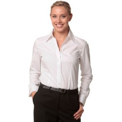 Womens Cotton/Poly Stretch Long Sleeve Shirt - M8020L
