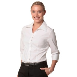 Womens Cotton/Poly Stretch 3/4 Sleeve Shirt - M8020Q