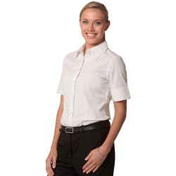 Womens Cotton/Poly Stretch Short Sleeve Shirt - M8020S