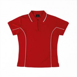 Ladies Podium Piping Polo S/S - 7LPI