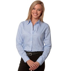 Womens Fine Twill Long Sleeve Shirt - M8030L