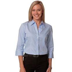 Womens Fine Twill 3/4 Sleeve Shirt - M8030Q