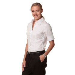 Womens Fine Twill Short Sleeve Shirt - M8030S