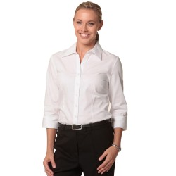 Women's CVC Oxford 3/4 Sleeve Shirt - M8040Q