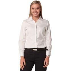 Womens Self Stripe Long Sleeve Shirt - M8100L