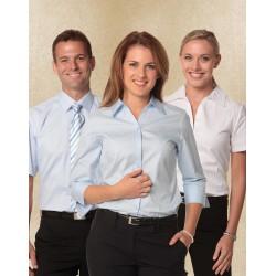 Womens Self Stripe 3/4 Sleeve Shirt - M8100Q