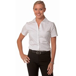 Womens Self Stripe Short Sleeve Shirt - M8100S