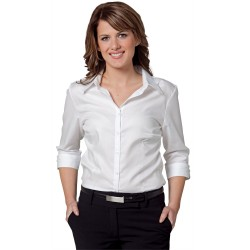 Womens Mini Herringbone 3/4 Sleeve Shirt - M8113