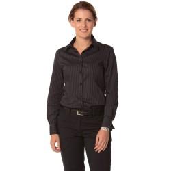 Womens Dobby Stripe Long Sleeve Shirt - M8132