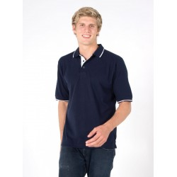 Mens Single Stripe Trim Polo - P712HS