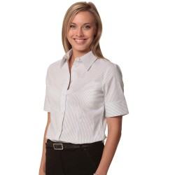 Womens Ticking Stripe Short Sleeve Shirt - M8200S