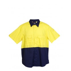 100% Combed Cotton Drill Short Sleeve Shirt - S007MS