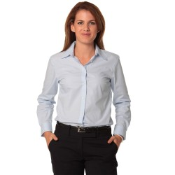 Womens Fine Stripe Long Sleeve Shirt - M8212