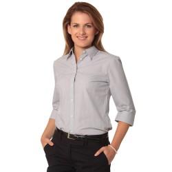 Womens Fine Stripe 3/4 Sleeve Shirt - M8213