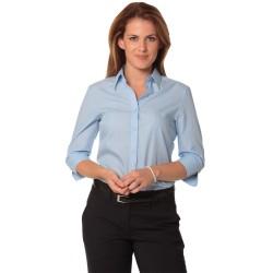 Womens Pin Stripe 3/4 Sleeve Shirt - M8223