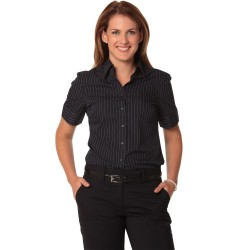 Womens Pin Stripe Short Sleeve Shirt - M8224