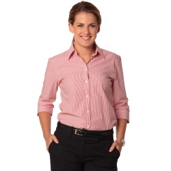Womens Balance Stripe 3/4 Sleeve Shirt - M8233