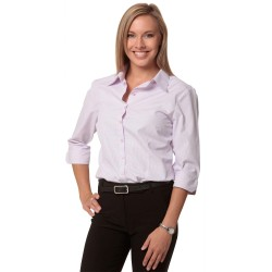 Womens Mini Check 3/4 Sleeve Shirt - M8360Q