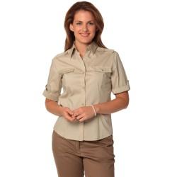 Womens Short Sleeve Military Shirt - M8911