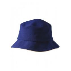 Pique mesh with sandwich trim bucket hat - CH71