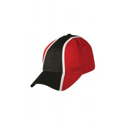 100% heavy brushed cotton tri-colour base- ball cap - CH83