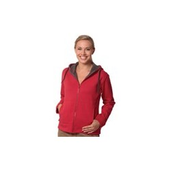 Ladies Full Zip Contrast Bonded Fleece Hoodie - FL18