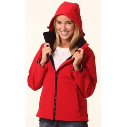 Ladies Softshell Hooded Jacket - JK34
