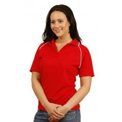 Ladies CoolDry Raglan Short Sleeve Contrast Polo - PS19