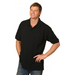 Mens Tight Pique Knit Short Sleeve Polo - PS22