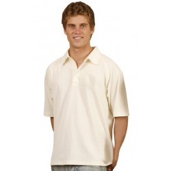 Mens TrueDry Mesh Knit Short Sleeve Cricket Polo - PS29