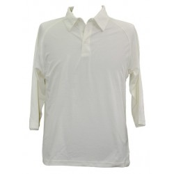 Mens TrueDry Mesh Knit 3/4 Sleeve Cricket Polo - PS29Q