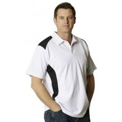 Mens TrueDry Short Sleeve Contrast Polo - PS31