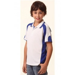 Kids CoolDry Contrast Polo with Sleeve Panels - PS61K