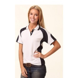 Ladies CoolDry Contrast Polo with Sleeve Panels - PS62