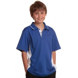 Kids TrueDry Contrast Short Sleeve Polo - PS73K