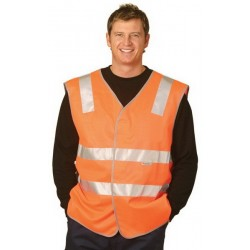High Visibility Safety Vest With Reflective Tapes - SW03