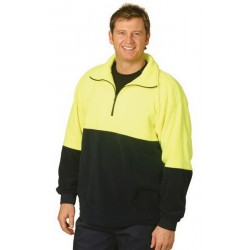 High Visibility Polar Fleece Half Zip Pullover - SW07